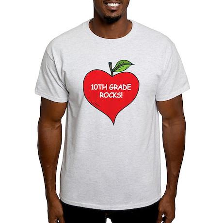 Heart Apple 10th Grade Rocks Light T-Shirt