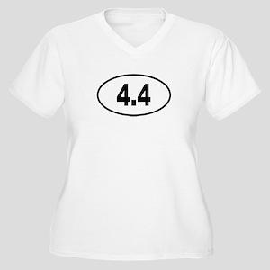4.4 Womes Plus-Size V-Neck T-Shirt