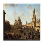 Red Square Moscow Tile Coaster