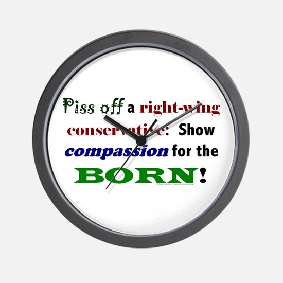 Compassion for the Born! Wall Clock