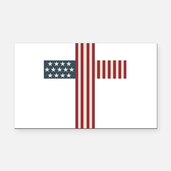 American Christian Rectangle Car Magnet