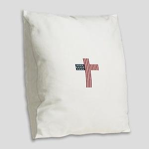 American Christian Burlap Throw Pillow