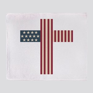 American Christian Throw Blanket