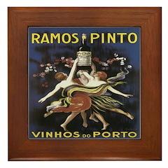 Portugal Wine Vintage Framed Tile