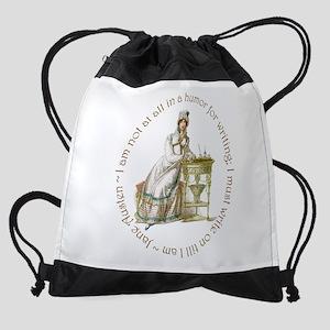 Jane Austen Writing Drawstring Bag