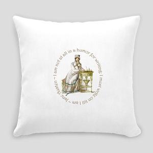Jane Austen Writing Everyday Pillow
