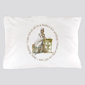 Jane Austen Writing Pillow Case