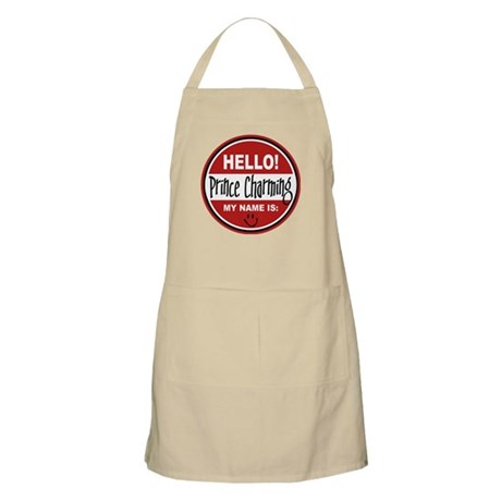 Hello my name is Prince Charming BBQ Apron