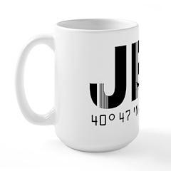 New York JFK Airport Code Large Mug