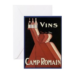 Vintage Wine Ad Greeting Cards (Pk of 20)