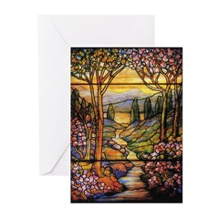Tiffany Landscape Greeting Cards (Pk of 10)