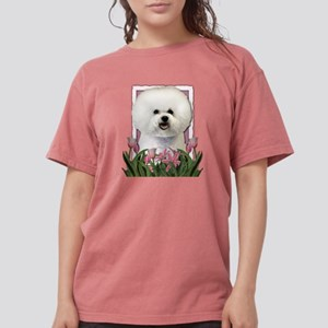 Mothers Day Pink Tulips Bichon T-Shirt