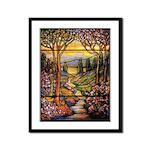 Tiffany Landscape Framed Print