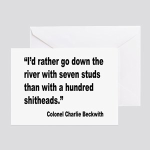 Beckwith Seven Studs Quote Greeting Card