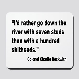 Beckwith Seven Studs Quote Mousepad
