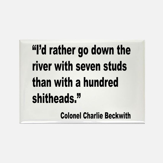 Beckwith Seven Studs Quote Rectangle Magnet