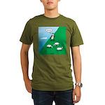 Hiking Sheep Organic Men's T-Shirt (dark)