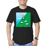 Hiking Sheep Men's Fitted T-Shirt (dark)