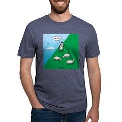 Hiking Sheep Mens Tri-blend T-Shirt