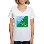 Hiking Sheep Women's V-Neck T-Shirt