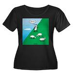 Hiking S Women's Plus Size Scoop Neck Dark T-Shirt