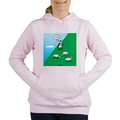 Hiking Sheep Women's Hooded Sweatshirt