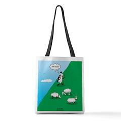 Hiking Sheep Polyester Tote Bag