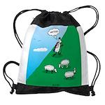 Hiking Sheep Drawstring Bag