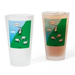 Hiking Sheep Drinking Glass