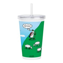 Hiking Sheep Acrylic Double-wall Tumbler