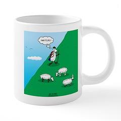 Hiking Sheep 20 oz Ceramic Mega Mug