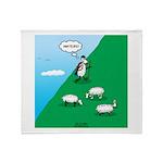 Hiking Sheep Throw Blanket