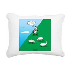 Hiking Sheep Rectangular Canvas Pillow