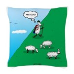 Hiking Sheep Woven Throw Pillow