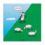 Hiking Sheep Tile Coaster
