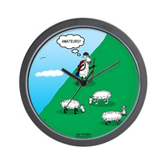 Hiking Sheep Wall Clock