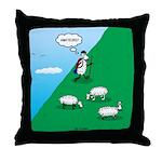 Hiking Sheep Throw Pillow