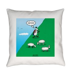 Hiking Sheep Everyday Pillow