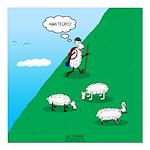 Hiking Sheep Square Car Magnet 3