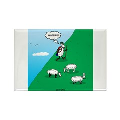Hiking Sheep Rectangle Magnet (100 pack)