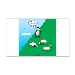 Hiking Sheep Wall Decal