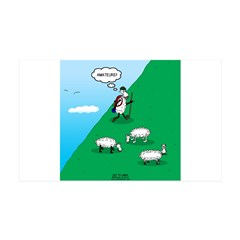 Hiking Sheep Wall Decal