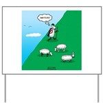 Hiking Sheep Yard Sign