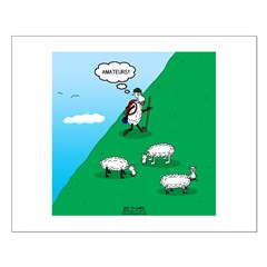 Hiking Sheep Posters