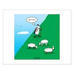 Hiking Sheep Small Poster