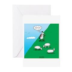 Hiking Sheep Greeting Cards (Pk of 20)