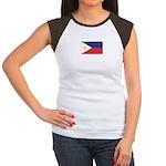 Philippine Flag Women's Cap Sleeve T-Shirt