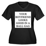 ball gag gifts t-shirts Women's Plus Size V-Neck D