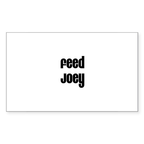 Feed Joey Rectangle Sticker