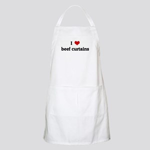 I Love beef curtains BBQ Apron